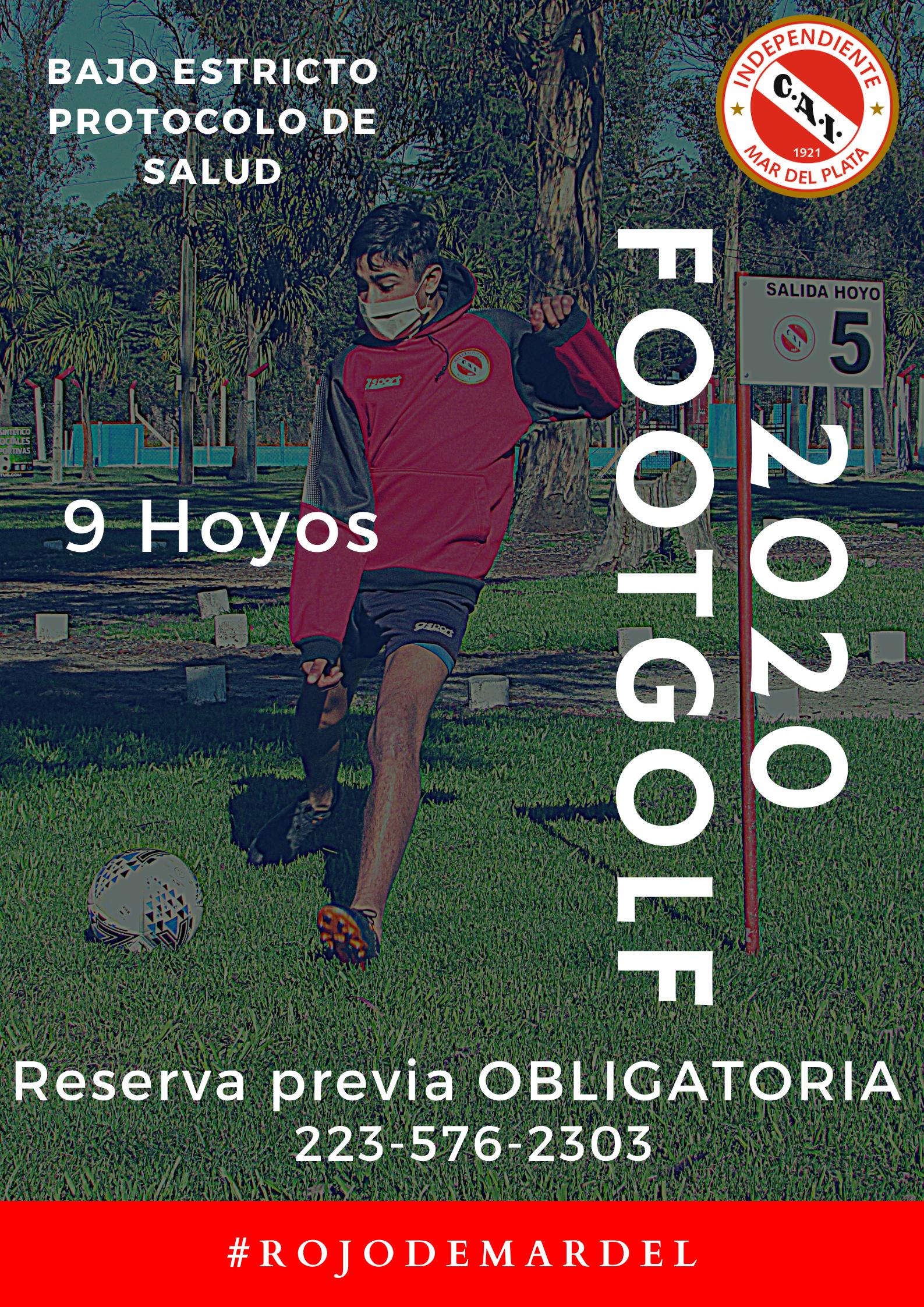 Independiente de Mar del Plata presenta su cancha de Footgolf