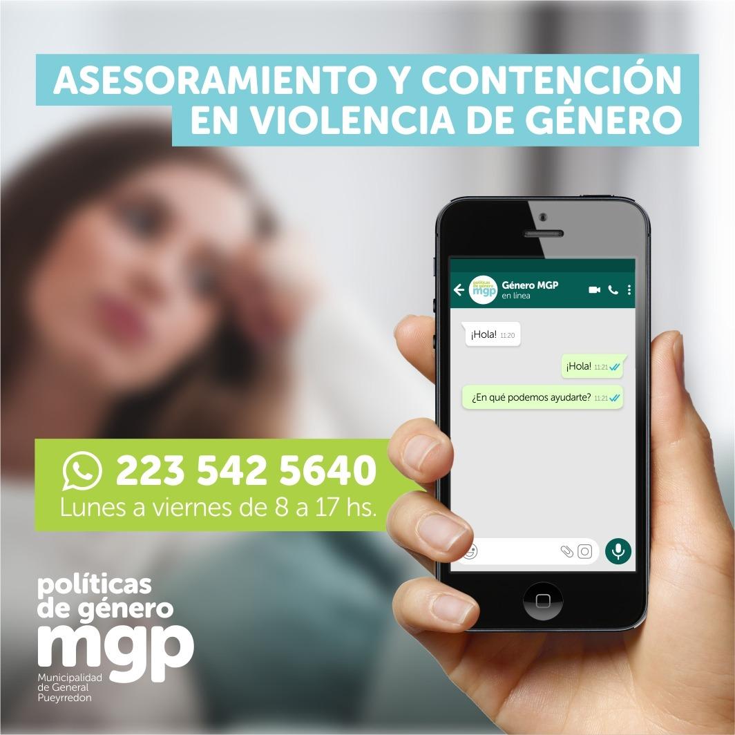 El municipio lanzó una nueva línea de asesoramiento sobre violencia de género