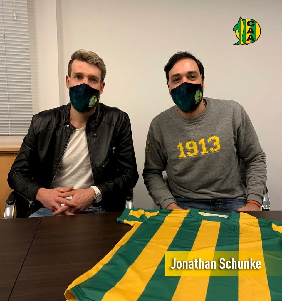 Jonathan Schunke, nuevo refuerzo de Aldosivi