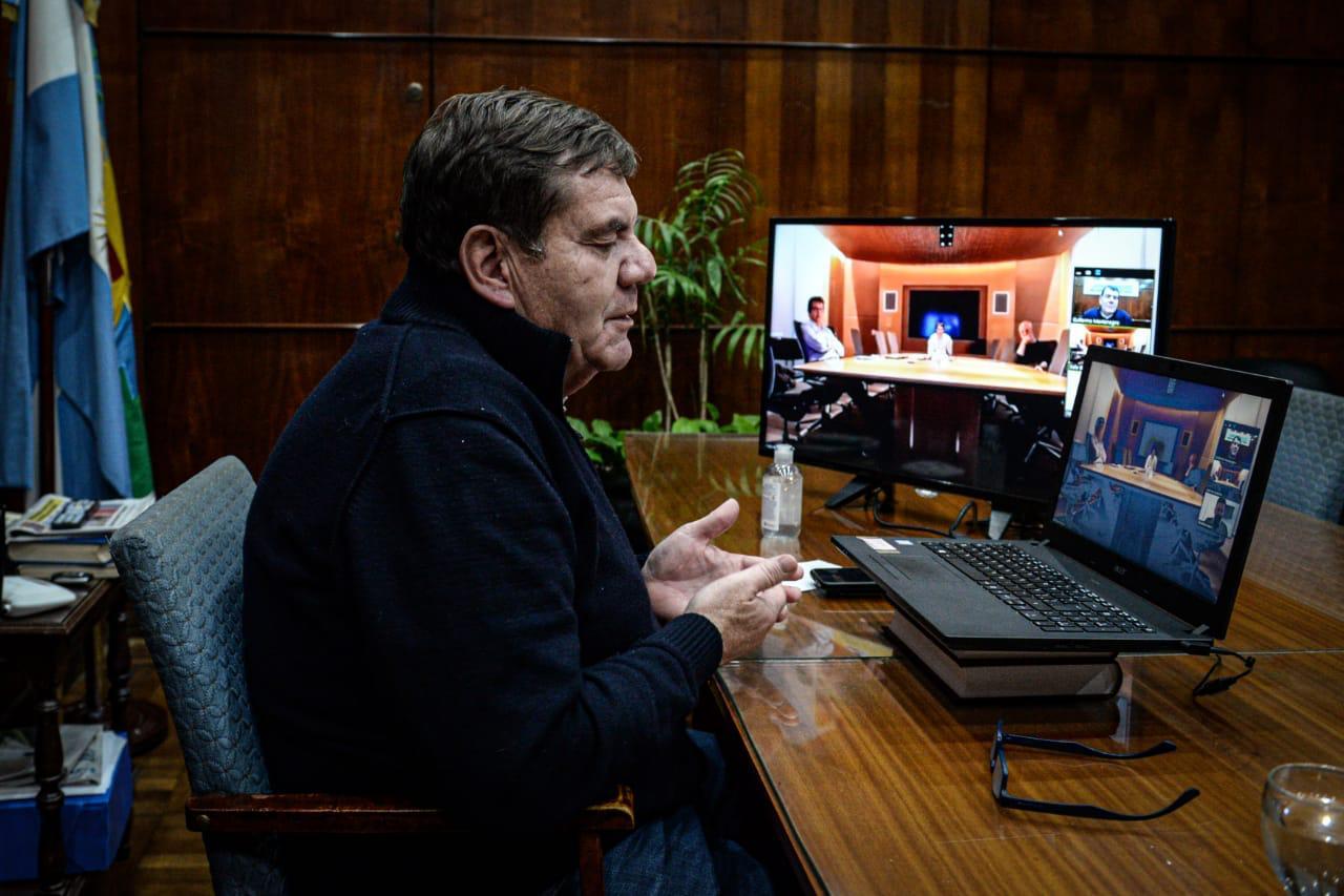 Encuentro virtual entre Montenegro y Larreta