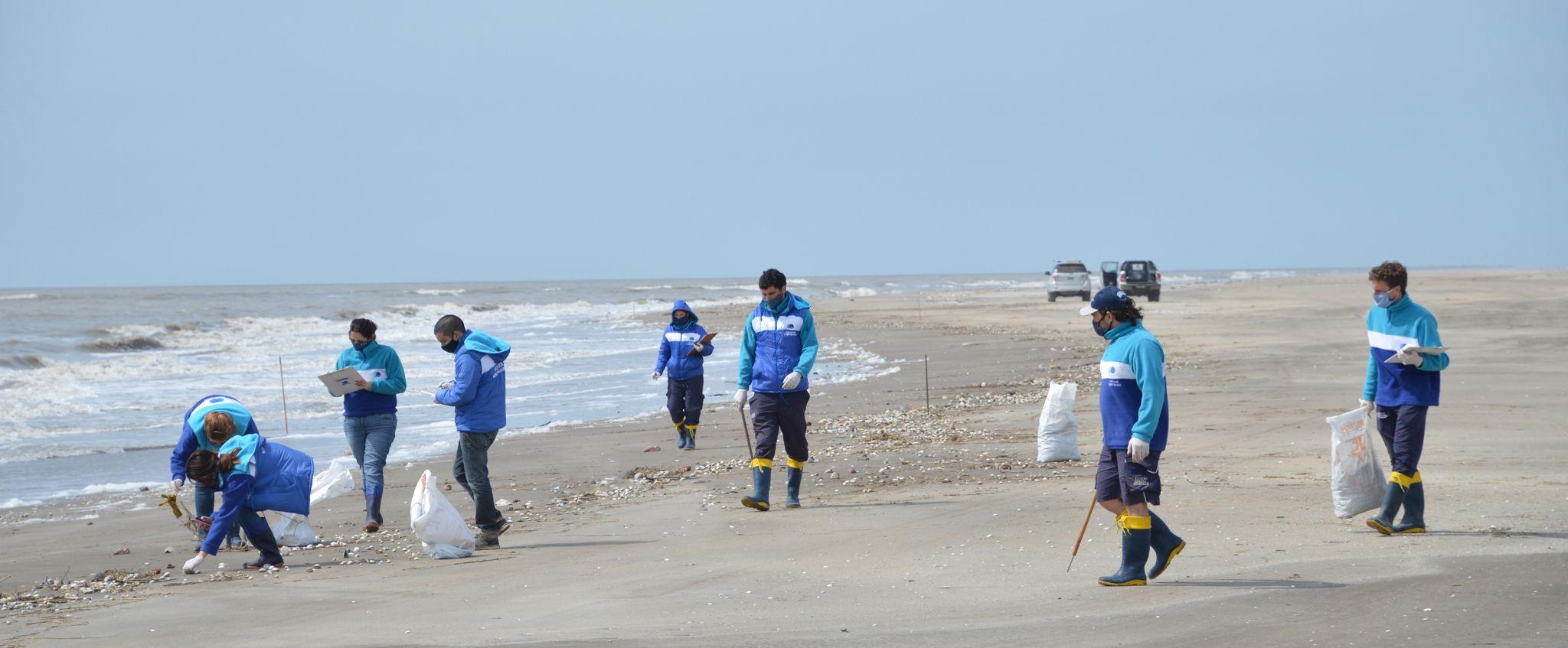 Censo y limpieza de playas en el Partido de la Costa: el 86% de los residuos encontrados fueron plásticos