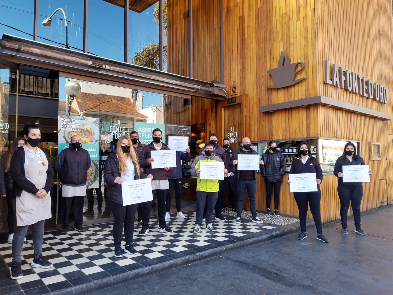 Gastronómicos protesta en los lugares de trabajo