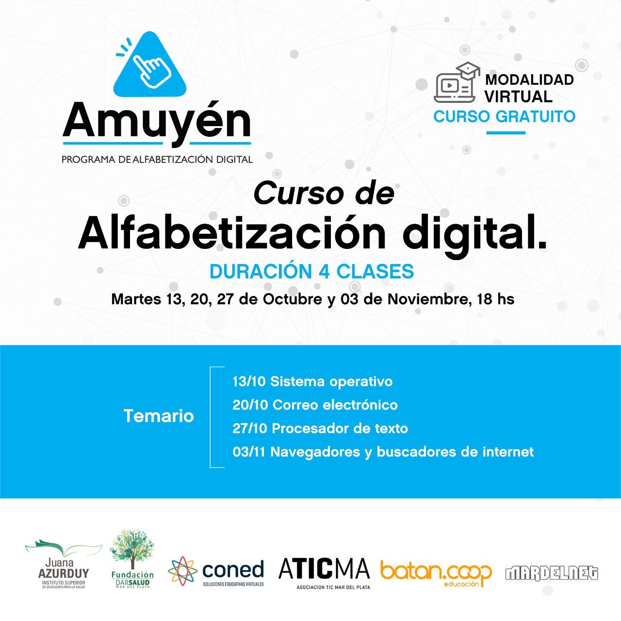 Comenzó el programa de alfabetización digital «Amuyén»
