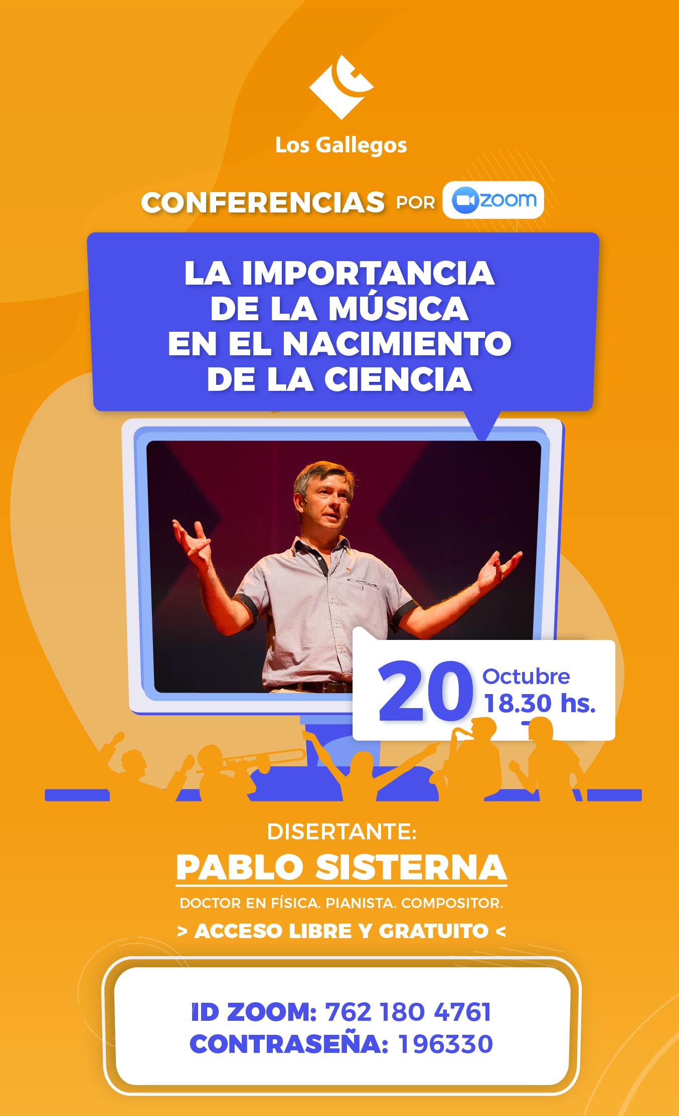 Pablo Sisterna dará una charla sobre música y ciencia