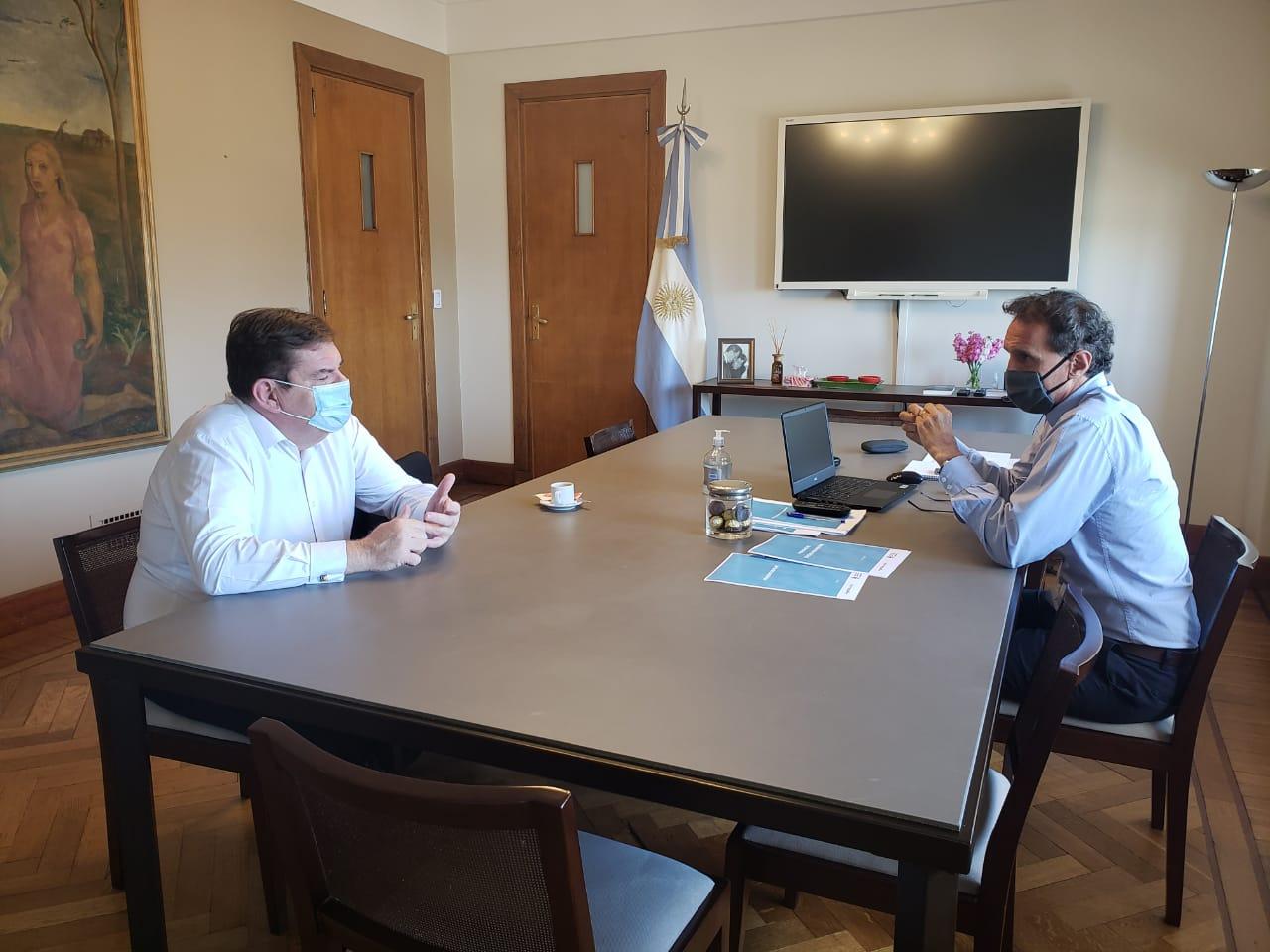 Cafiero recibió a Montenegro para analizar el desarrollo productivo y turístico de Mar del Plata