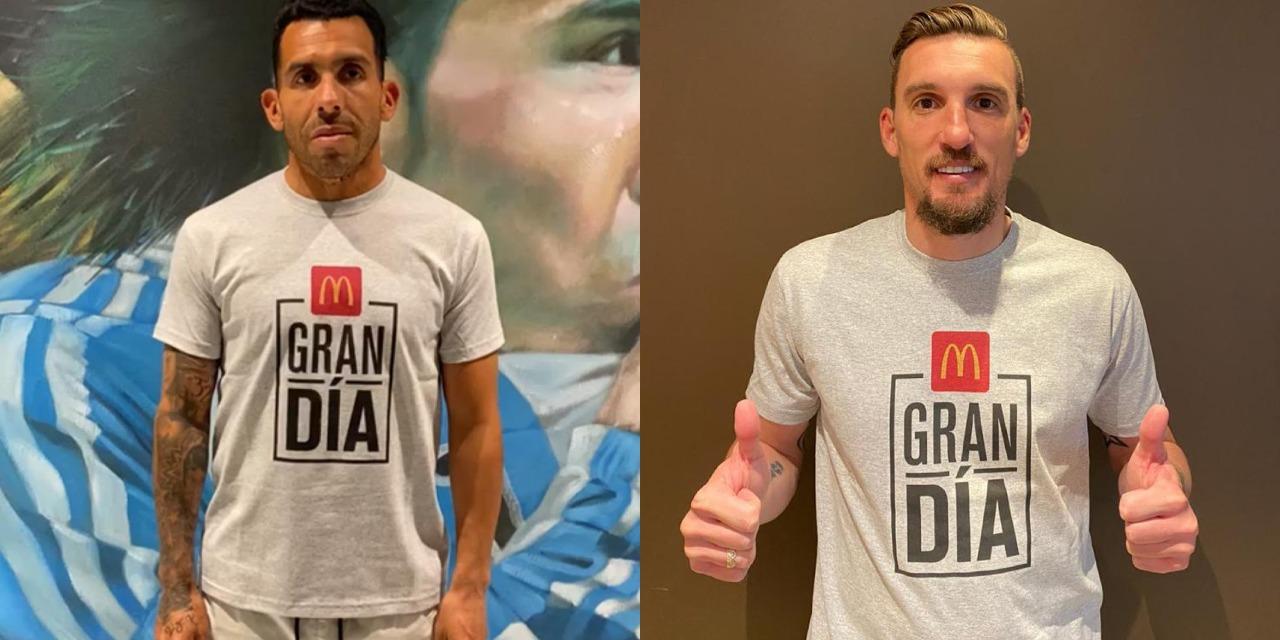 Gran Día: Franco Armani y Carlos Tevez se ponen la misma camiseta