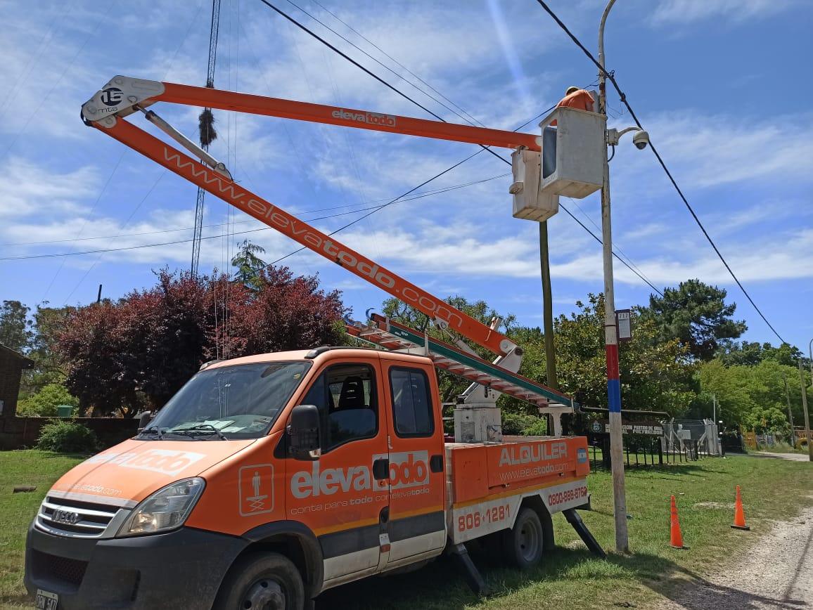 Instalan cámara de seguridad en el acceso a Sierra de los Padres