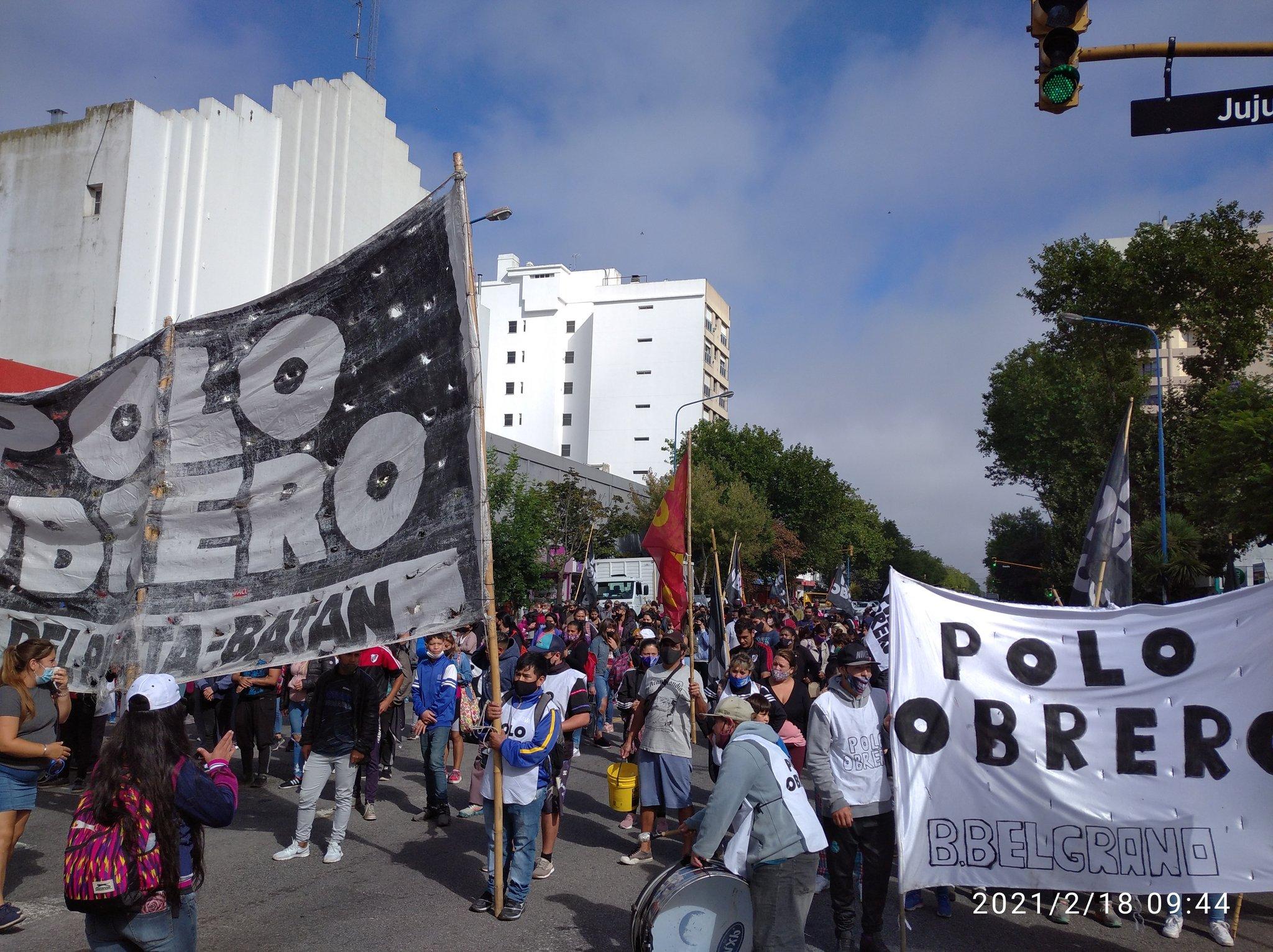 La protesta de las organizaciones sociales tuvo su réplica en Mar del Plata