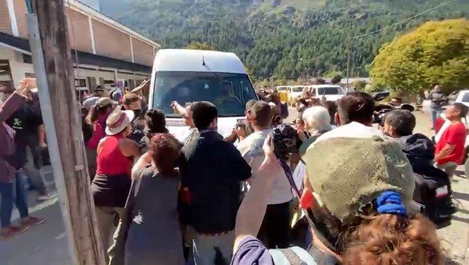Serios incidentes en la visita de Fernández a Chubut
