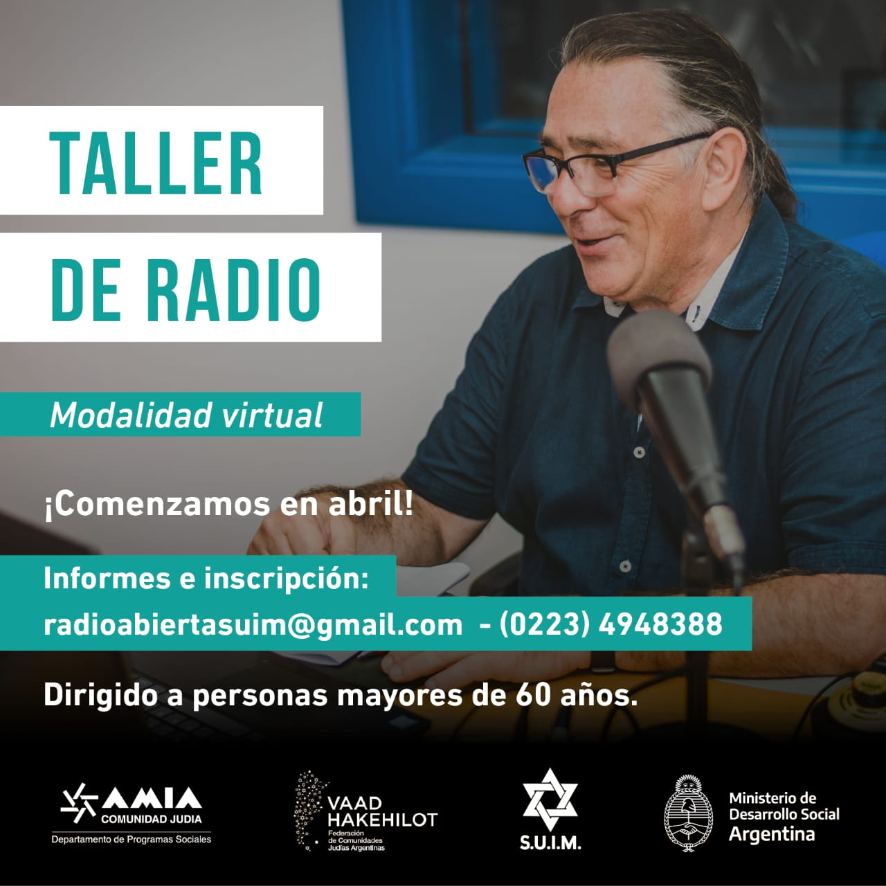 La DINAPAM convoca a adultos mayores a participar de un taller de radio gratuito
