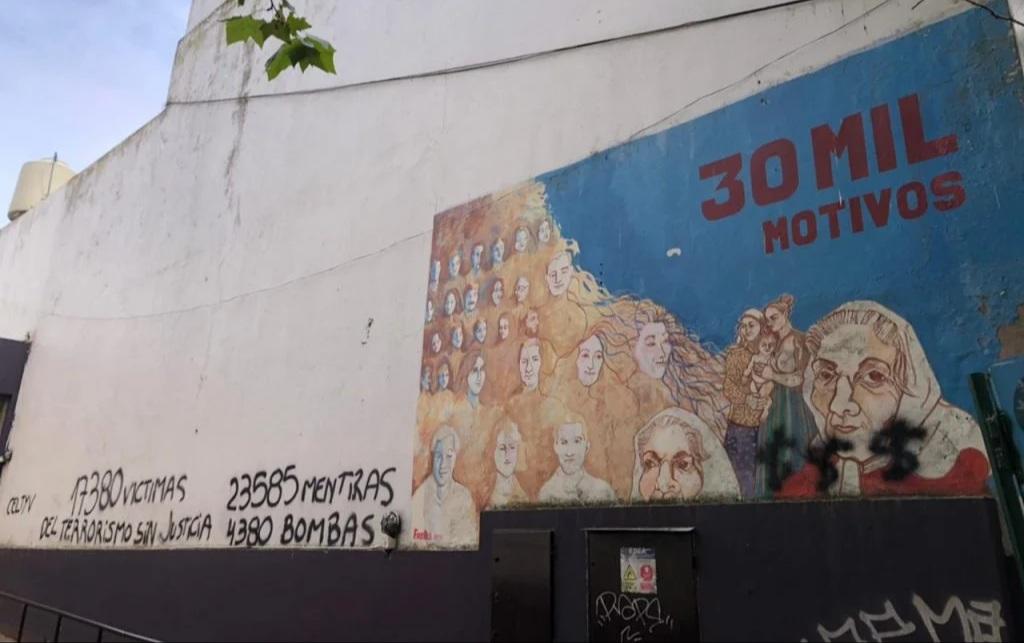 Organismos de Derechos Humanos repudiaron pintadas a mural que recuerda a los desaparecidos