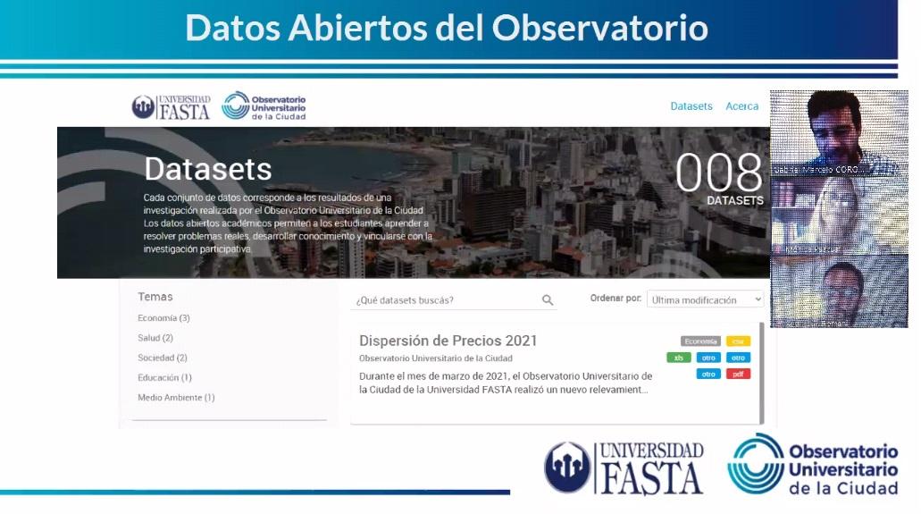 El Observatorio Universitario de la Ciudad presentó su portal de Datos Abiertos