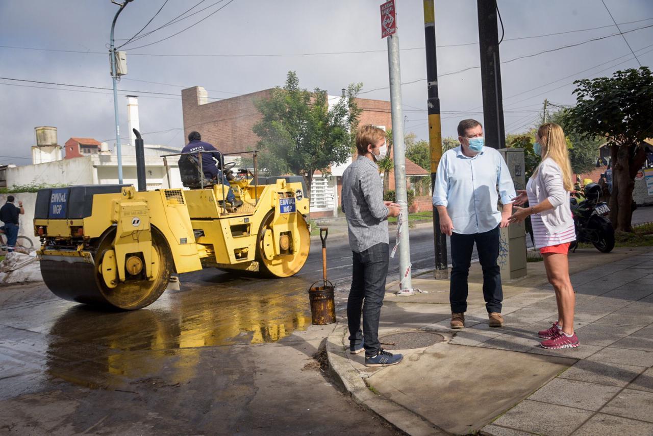 La Municipalidad trabaja en la recuperación de pavimentos