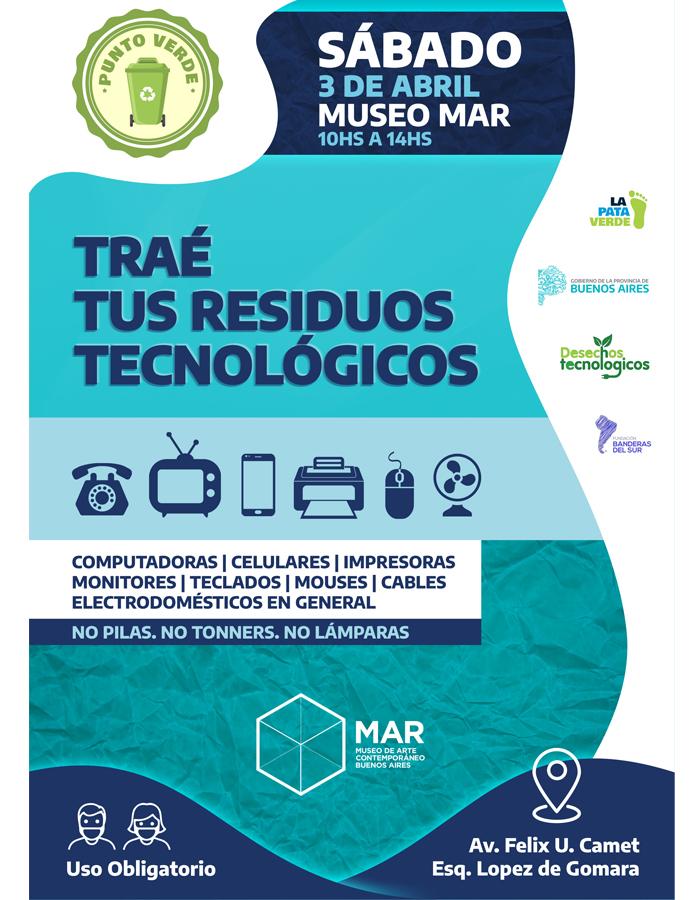 El Punto Verde de desechos tecnológicos llega al Museo MAR