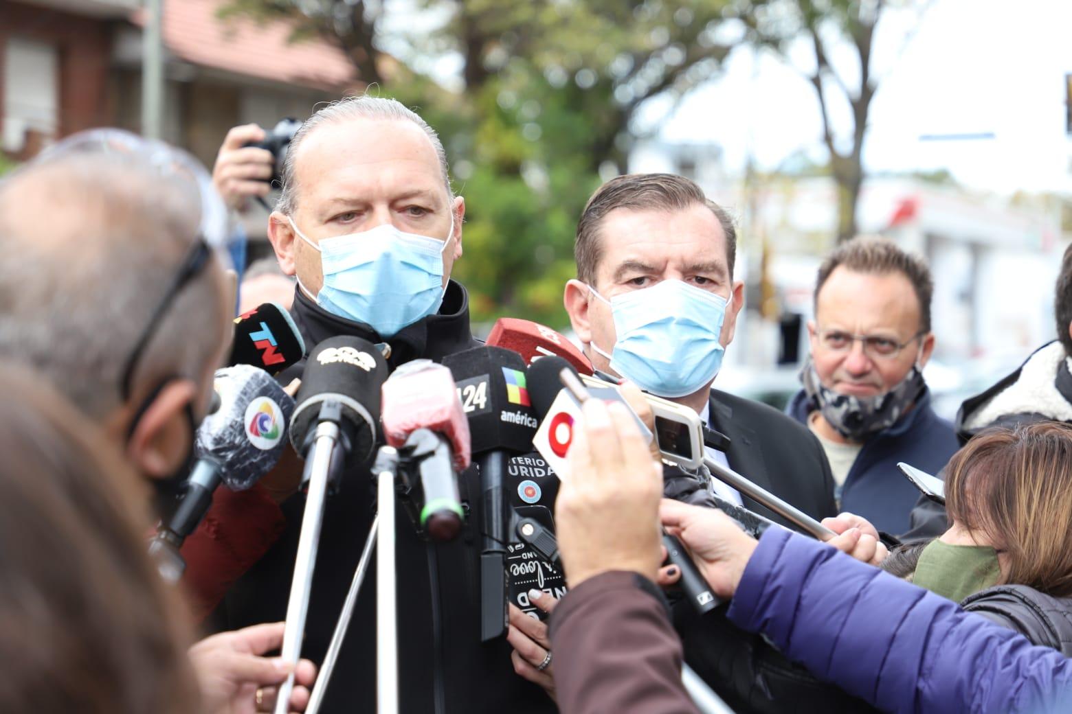 «Queremos que la justicia actúe con rigor y celeridad», dijo Berni en el velatorio del policía