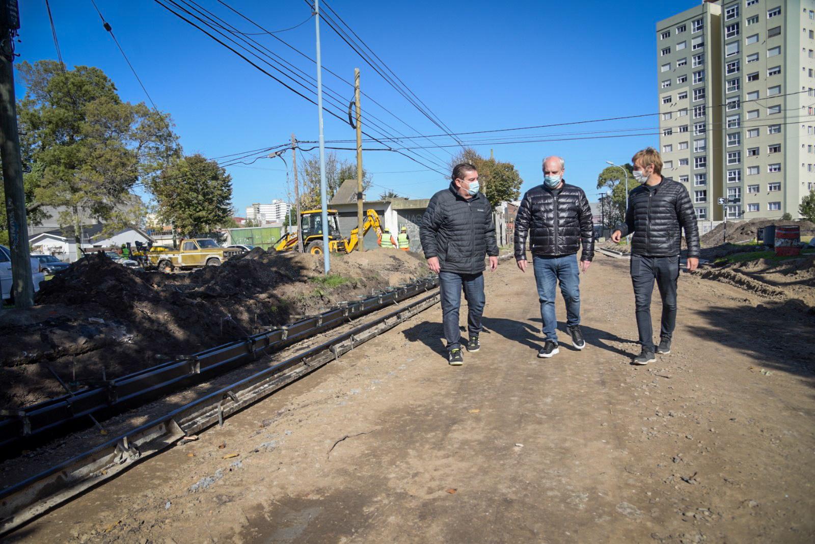 Avanzan las obras viales en distintos barrios de Mar del Plata