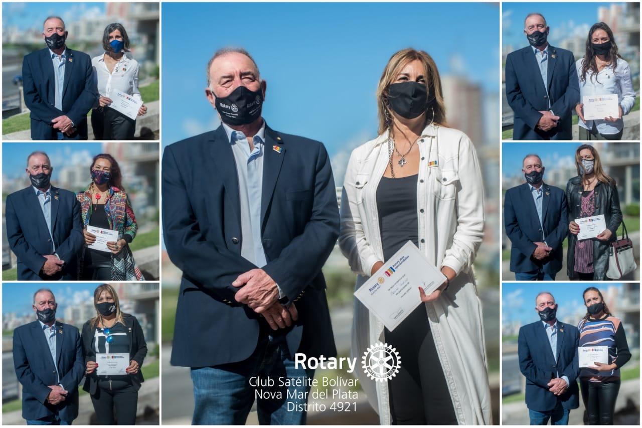 "Presentaron oficialmente el Club Satélite de Rotary Bolívar ""Nova Mar del Plata"""