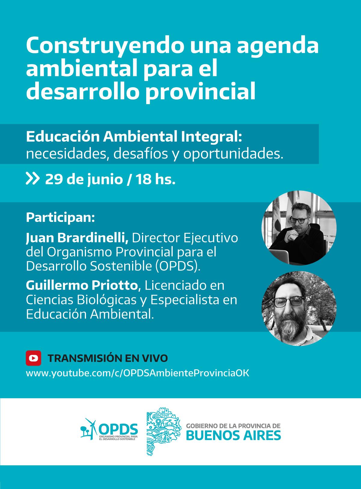 """Charla """"Educación Ambiental Integral: necesidades, desafíos y oportunidades"""""""
