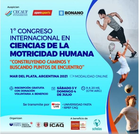 """Se desarrollará el """"Primer Congreso Internacional en Ciencias de la Motricidad Humana"""""""