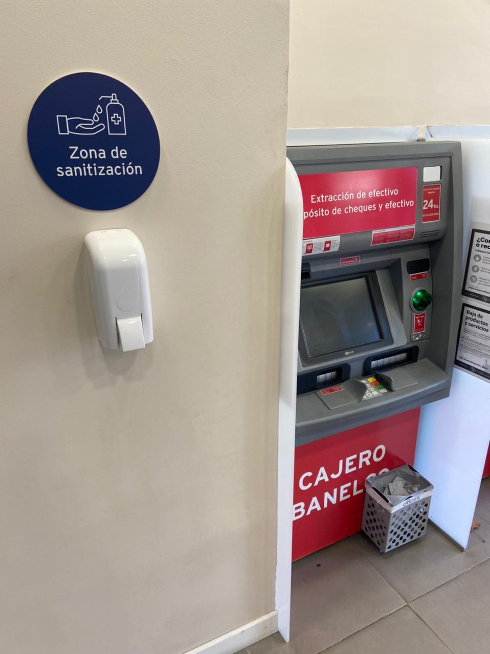 El Municipio infraccionó a bancos por falta de alcohol en gel en cajeros automáticos