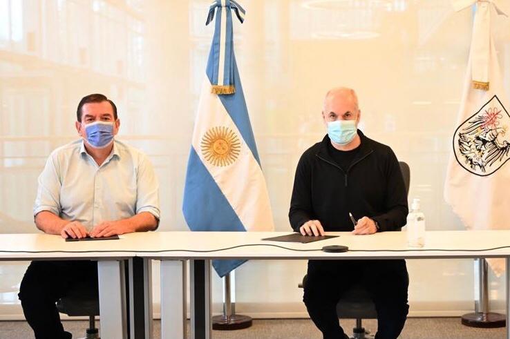 Rodriguez Larreta y Montenegro firmaron un convenio de cooperación
