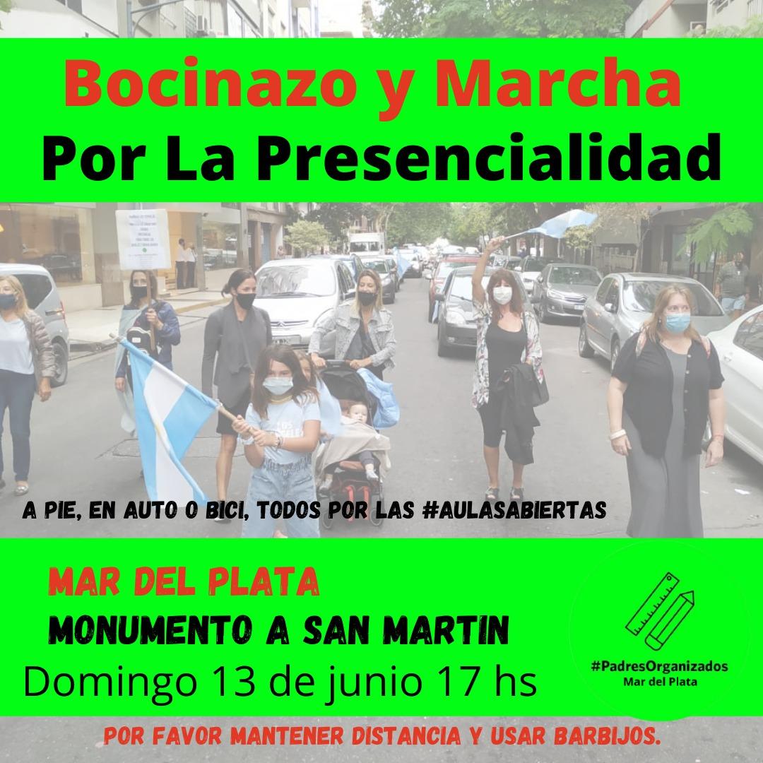 Convocan en Mar del Plata a una marcha por la presencialidad escolar