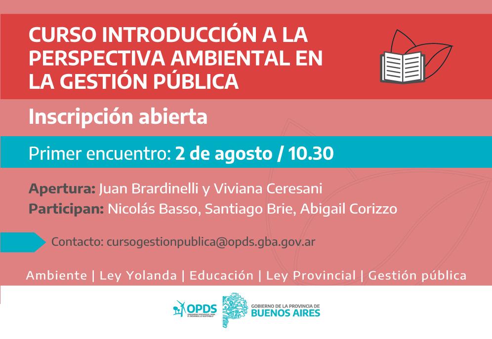 """La Provincia lanza la cuarta edición del curso """"Introducción a la perspectiva ambiental en la gestión pública"""""""