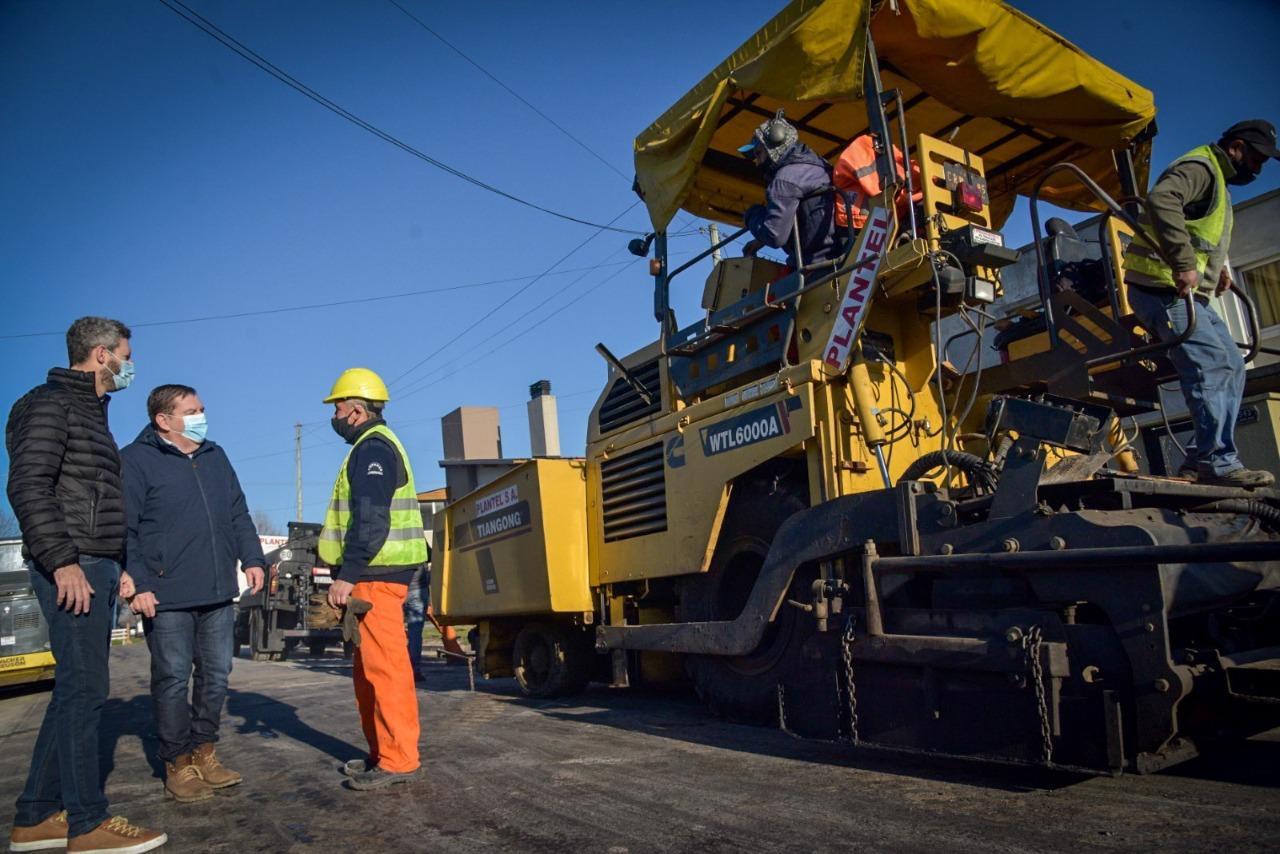 Comenzaron obras de pavimentación en el barrio Fortunato de la Plaza