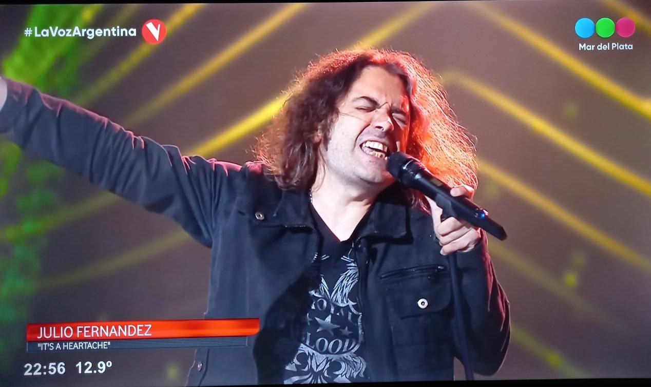 Julio Fernández, el marplatense en «La Voz Argentina»