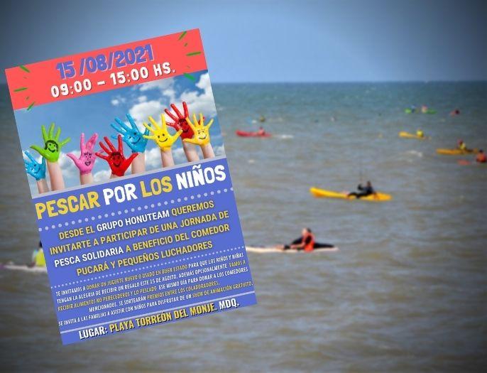 Jornada solidaria de pesca deportiva para recolectar juguetes