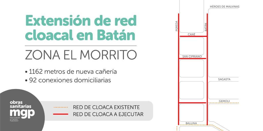 Cloacas: más vecinos de Batán y Don Diego se sumarán a la red oficial