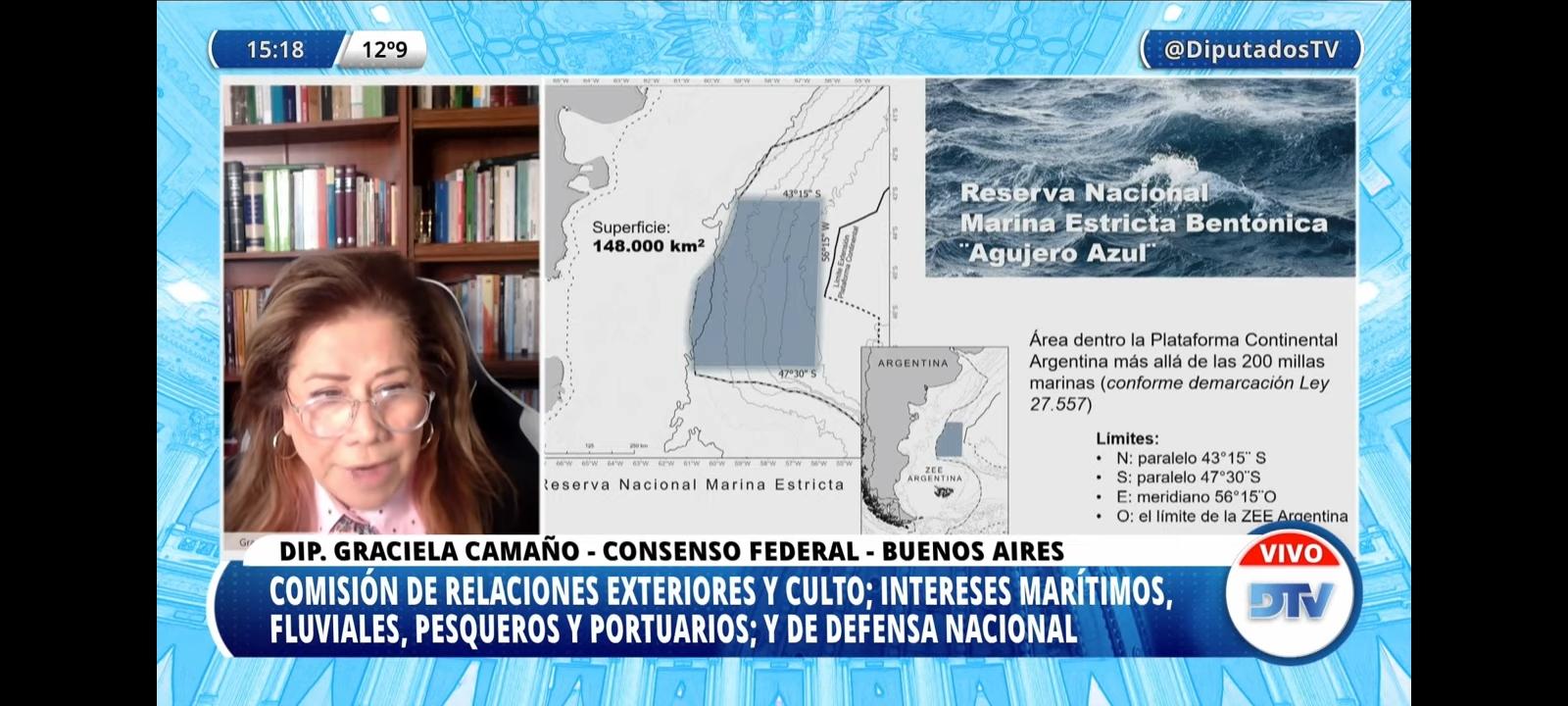 Diputados analiza la creación del área marina protegida Agujero Azul