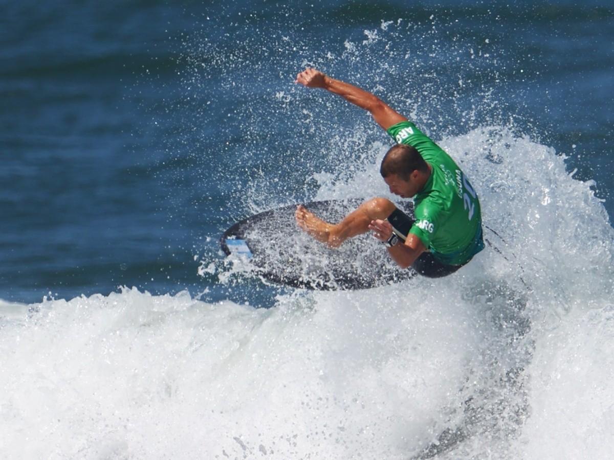 """""""Lele"""" Usuna no pasó el corte en el estreno absoluto del surf en los Juegos Olímpicos"""