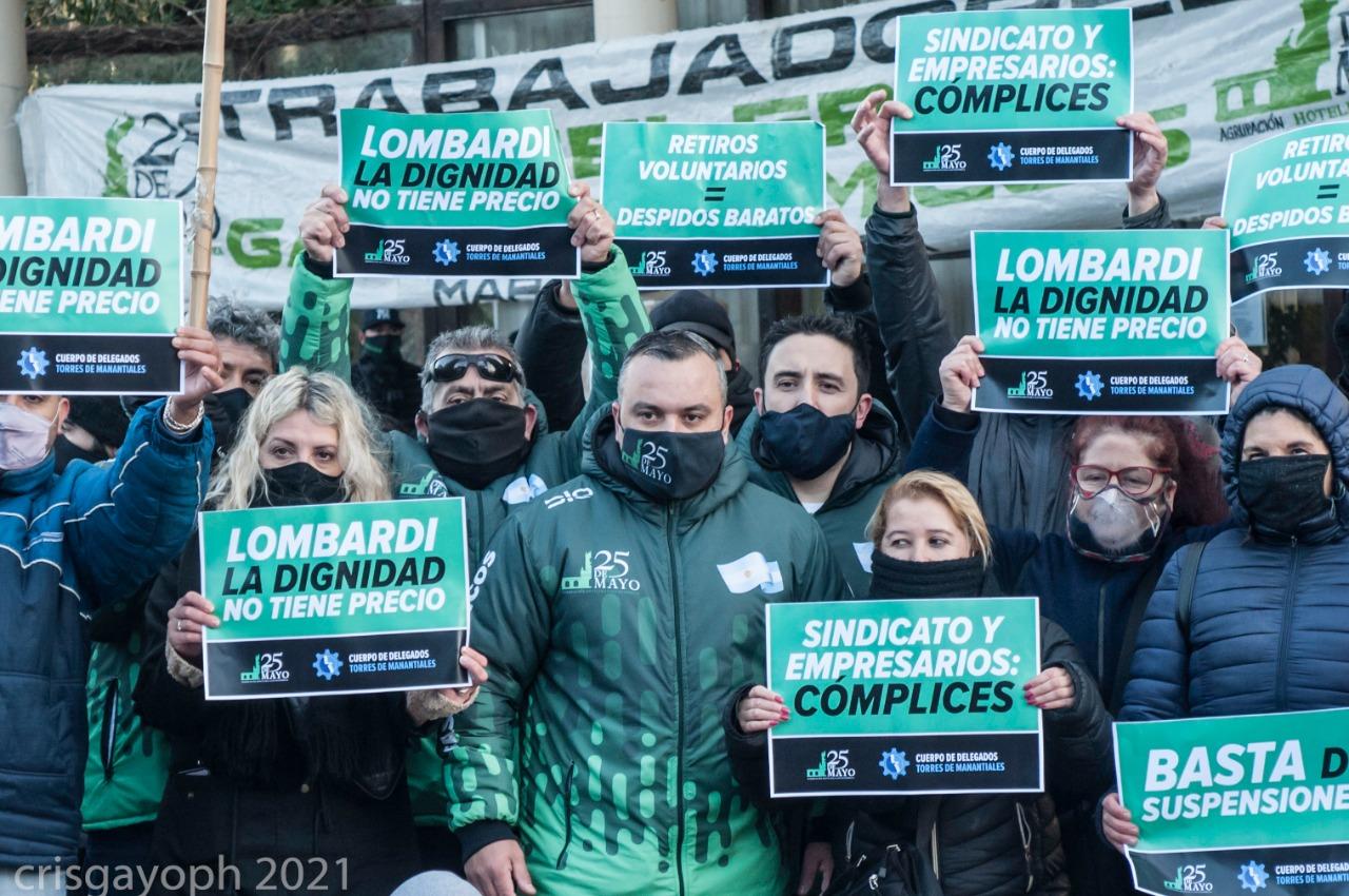 Principio de acuerdo entre Torres de Manantiales y delegados tras la manifestación