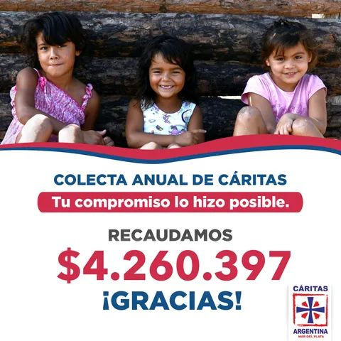 Colecta anual: Cáritas Mar del Plata recaudó más de 4 millones de pesos