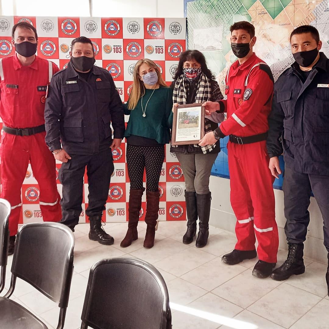 Entregan un reconocimiento a rescatistas de Riesgos Especiales y Bomberos de Mar del Plata Batán
