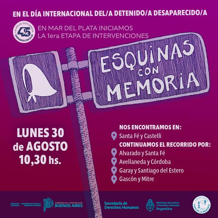 """Se inicia el proyecto """"Esquinas con Memoria"""" en Mar del Plata"""