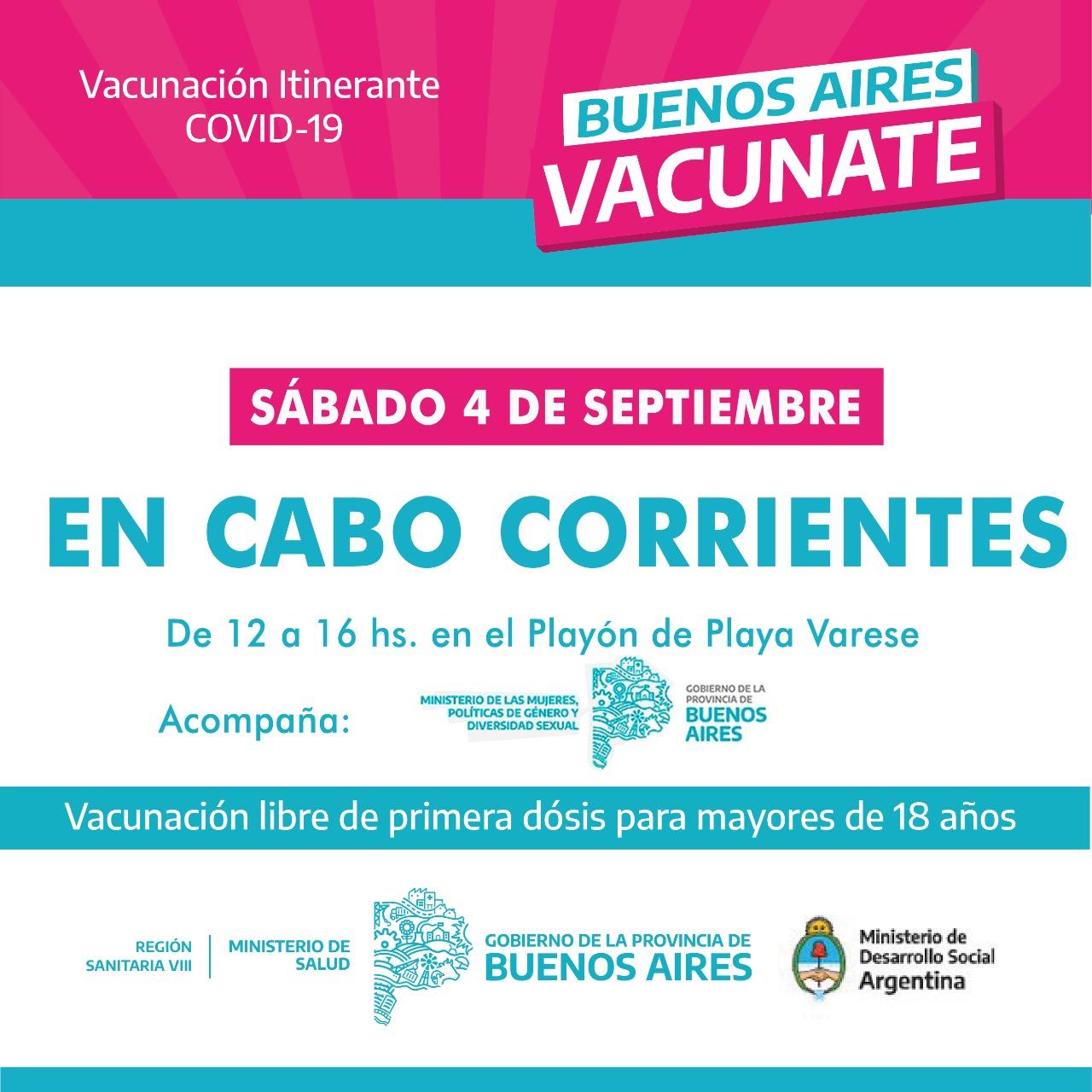 En la Peatonal se inició una nueva semana de vacunación itinerante