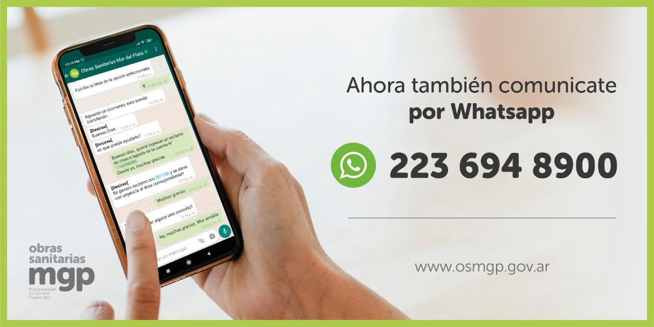 OSSE suma línea de WhatsApp para gestiones no presenciales