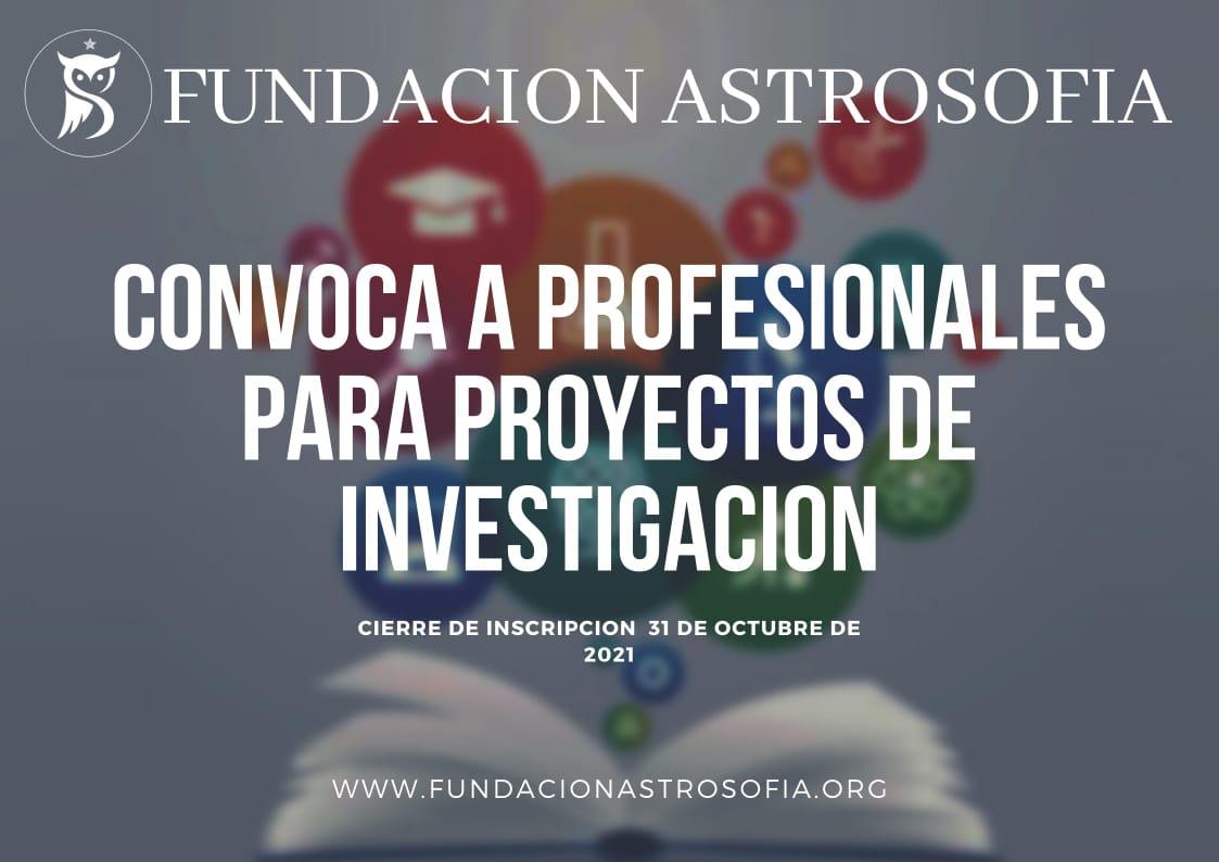 La Fundación Astrosofía convoca a profesionales para proyectos de investigación