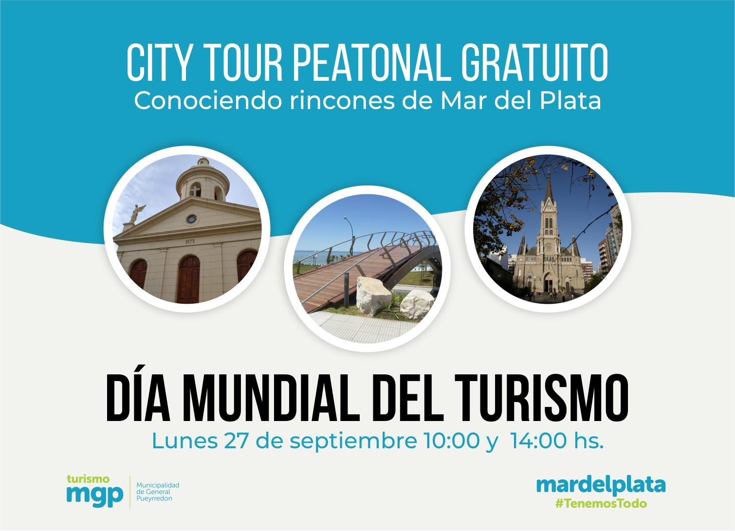 El EMTur celebra el Día Mundial del Turismo con un city tour peatonal gratuito