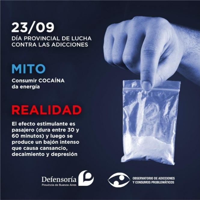 La Defensoría del Pueblo bonaerense busca concientizar sobre el consumo de drogas