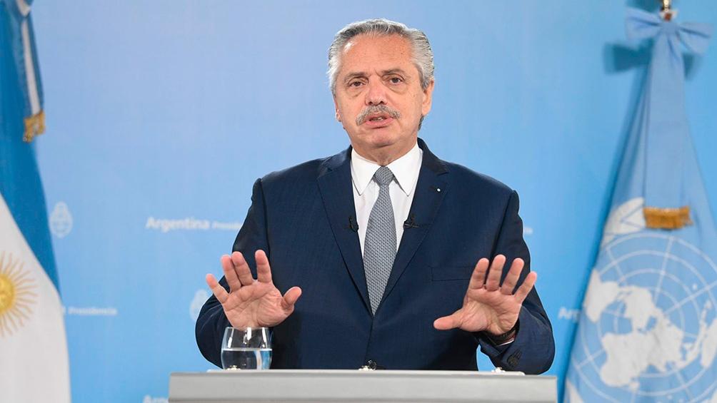 """Ante la ONU, el Presidente habló de un """"deudicidio"""" por parte del gobierno de Mauricio Macri"""
