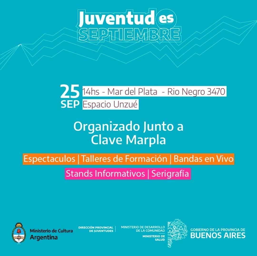 """Celebran el festival """"Juventud Es Septiembre"""" en el Espacio Unzué"""