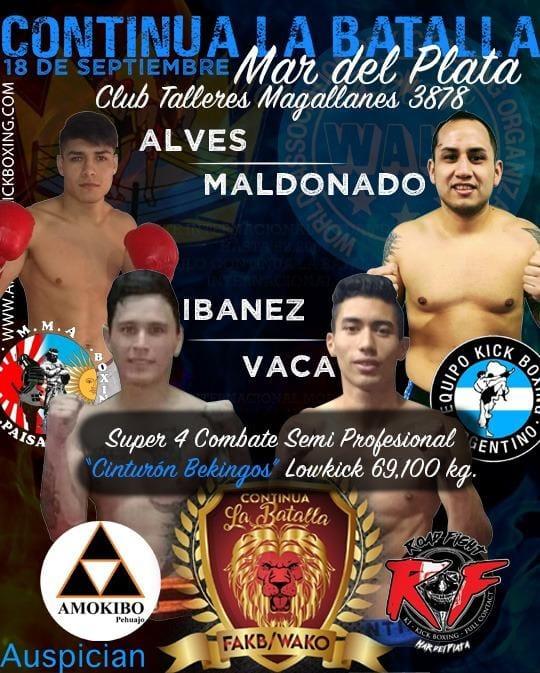 Primer gran encuentro de Kick Boxing en Mar del Plata