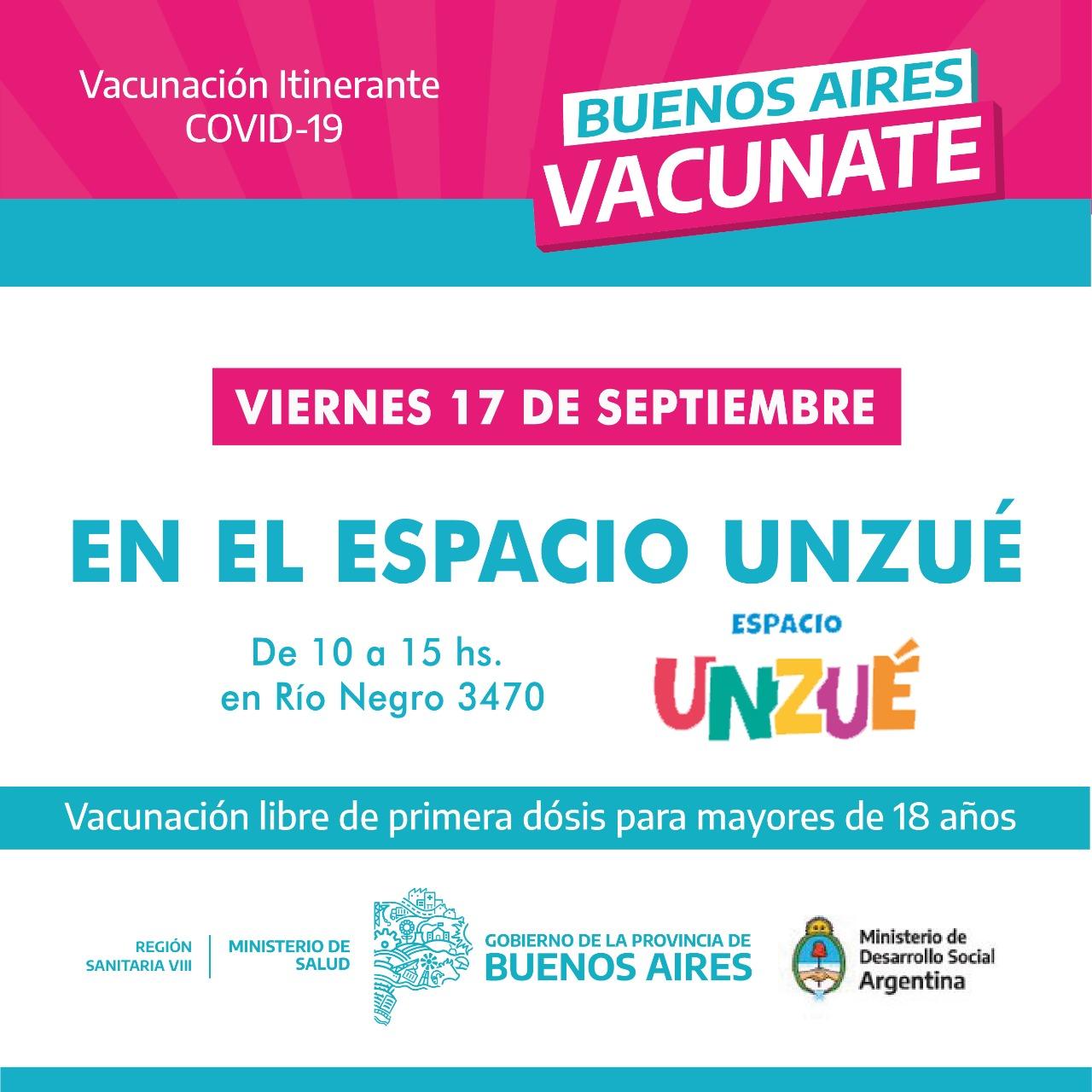 Espacio Unzué: jornada de vacunación y mercado de productos locales