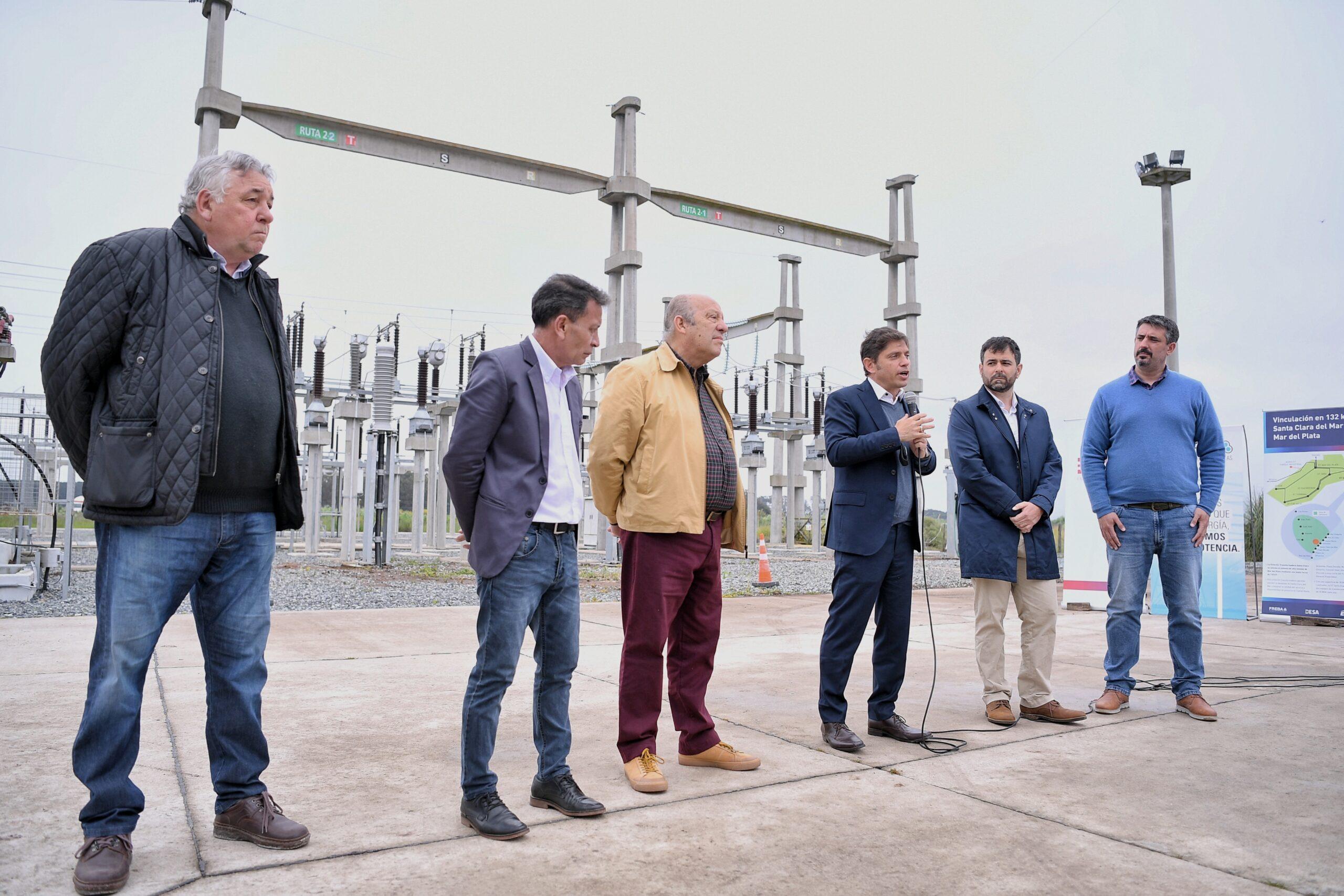 Se puso en marcha la nueva línea de alta tensión que conecta Santa Clara del Mar con Mar del Plata